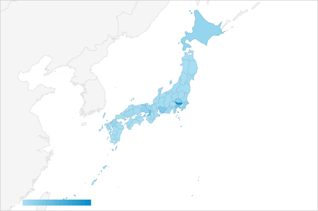 都道府県別 ユーザー数